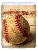 Old American Baseball Duvet Cover
