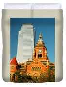 Old And New In Dallas Duvet Cover