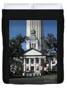 Old And New State Capitol Duvet Cover