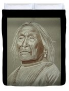 Old Apache Scout Duvet Cover