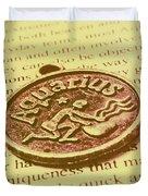 Old Aquarius Astrology Duvet Cover
