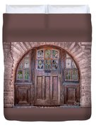 Old Arched Doorway-tucson Duvet Cover