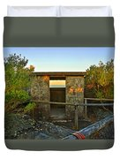 Old Army Lookout In Sunset Hour Duvet Cover