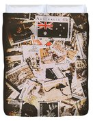 Old Australia In Stamps Duvet Cover