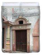 Old Austrian Door Duvet Cover