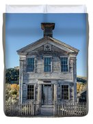 Old Bannack Schoolhouse And Masonic Temple 2 Duvet Cover