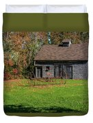 Old Barn And Rusty Farm Implement 01 Duvet Cover
