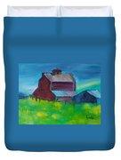Old Barn And Shed  Duvet Cover by Steve Jorde