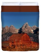 Old Barn Grand Tetons National Park Wyoming Duvet Cover by Dave Welling