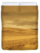 Old Barn In The Wheat Field Duvet Cover