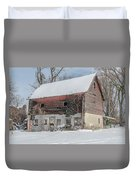 Old Barn In Upper Roxborough In The Snow Duvet Cover