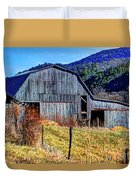 Old Barn In West Virginia Mountains 4836 Fusedt Duvet Cover