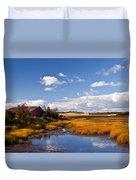 Old Barn On Salt Marsh Edge #2 Duvet Cover