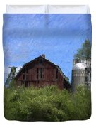 Old Barn On Summer Hill Duvet Cover