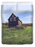 Old Barn Out In A Field Duvet Cover