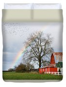 Old Barn Rainbow Duvet Cover