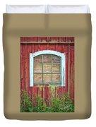 Old Barn Window Duvet Cover