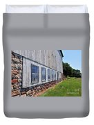 Old Barn Windows Duvet Cover