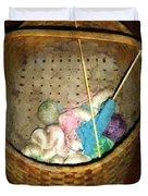 Old Basket New Yarn Duvet Cover