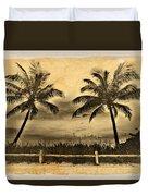 Old Beach Duvet Cover