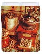 Old Bean Mill Decor. Kitchen Art Duvet Cover