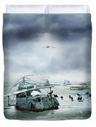 Old Birds Duvet Cover