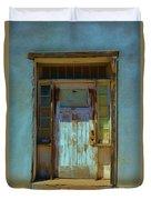 Old Blue Door  Duvet Cover