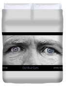 Old Blue Eyes Poster Print Duvet Cover