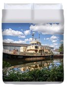 Old Boats Along The Exeter Canal 2 Duvet Cover