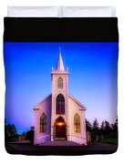 Old Bodega Church Sunset Duvet Cover