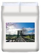 An Old Railroad Bridge  Duvet Cover