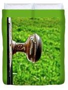 Old Brown Doorknob Duvet Cover