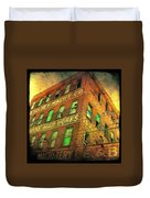 Old Empty Building In Retro Colors Duvet Cover