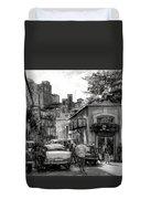 Old Buildings And Cars In Havana - V2 Duvet Cover