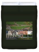 Old Buildings And Vineyards Duvet Cover