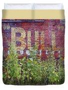 Old Bull Durham Sign - Delta Duvet Cover