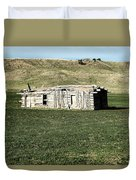 Old Cabin On The Plains Duvet Cover