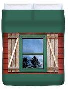 Old Cabin Window Duvet Cover