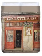 Old Cafe- Santander Spain Duvet Cover