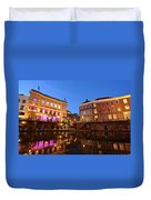 Old Canal In Utrecht In The Evening 4 Duvet Cover