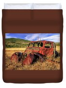 Old Car At Susanville Ranch Duvet Cover