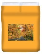 Old Car Tour To Copper Harbor Duvet Cover