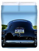 Old Car Trunk With Artistic Background Duvet Cover