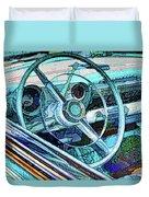 Old Car Wheel Duvet Cover