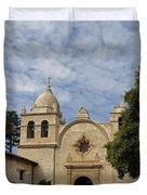 Old Carmel Mission Duvet Cover