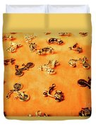 Old Charm Scooters Duvet Cover