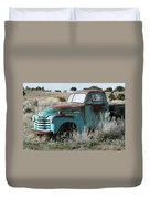Old Chevy Farm Truck In The Field Duvet Cover