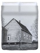 Old Church At Beatties  Ford Duvet Cover