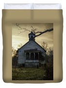 Old Church At Sunset Duvet Cover