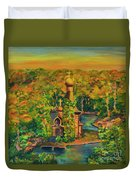 Old Church On The River Duvet Cover